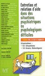 Souvent acheté avec L'infirmier en santé mentale, le Entretien et relation d'aide dans des situations psychiatriques ou psychologiques difficiles