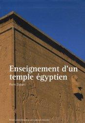 Dernières parutions dans Architecture Essais, Enseignement d'un temple égyptien
