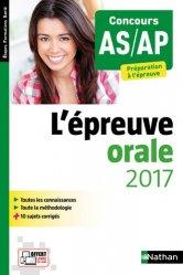 Nouvelle édition Épreuve orale 2017  AS AP