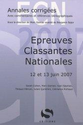 Souvent acheté avec Annales corrigées 2006 Épreuves classantes nationales, le Épreuves classantes nationales 12 et 13 juin 2007
