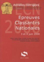 Souvent acheté avec Annales corrigées 2006 Épreuves classantes nationales, le Épreuves classantes nationales 3 et 4 juin 2008