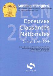 Nouvelle édition Épreuves Classantes Nationales 2009