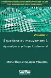 Dernières parutions sur Mathématiques appliquées, Equations du mouvement 3