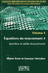 Dernières parutions sur Mécanique des solides, Equations du mouvement - Volume 4