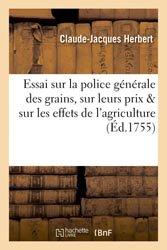 Dernières parutions dans Savoirs et Traditions, Essai sur la police générale des grains, sur leurs prix et sur les effets de l'agriculture