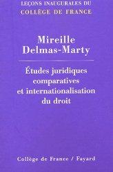 Dernières parutions dans Leçons inaugurales, Etudes juridiques comparatives et internationalisation du droit