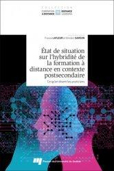 Dernières parutions sur Questions d'éducation, Etat de situation sur l'hybridité de la formation à distance en contexte postsecondaire