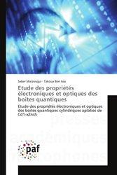 Dernières parutions sur Micro-électronique, Etude des propriétés électroniques et optiques des boites quantiques