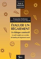 Dernières parutions sur Evaluations, Evaluer un bégaiement : un dialogue constructif