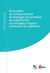Dernières parutions sur Métallurgie - Fonderie, Évaluation du comportement en brasage des produits de substitution aux alliages d'apport contenant du cadmium