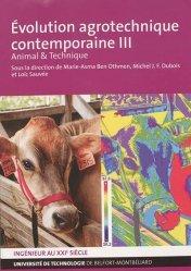 Dernières parutions sur Sciences de la Vie, Evolution agrotechnique contemporaine