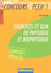 Souvent acheté avec Embryologie humaine, le Exercices et QCM de physique et biophysique