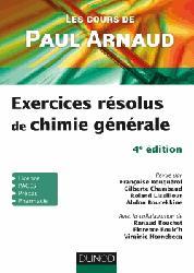 Dernières parutions sur Chimie générale, Exercices résolus de Chimie générale