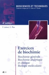 Dernières parutions sur UE1 Biochimie, Exercices de Biochimie