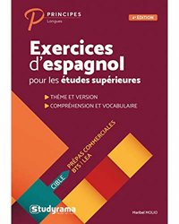 Dernières parutions sur Langues et littératures étrangères, Exercices d'espagnol pour les études supérieures