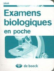 Dernières parutions sur Examens de laboratoire, Examen biologiques en poche