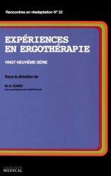 Expériences en ergothérapie 29ème série
