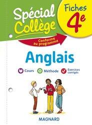 Dernières parutions sur Langues et littératures étrangères, Fiches Anglais 4e Spécial Collège