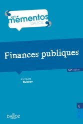 Dernières parutions dans Mémentos Dalloz, Finances publiques. 16e édition