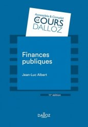 Dernières parutions dans Cours Dalloz, Finances publiques. 11e édition