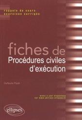 Dernières parutions sur Voies d'exécution, Fiches de procédures civiles d'exécution