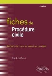 Nouvelle édition Fiches de procédures civiles. Rappels de cours et exercices corrigés, 5e édition