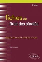 Dernières parutions sur Droit des sûretés, Fiches de droit des sûretés. 2e édition