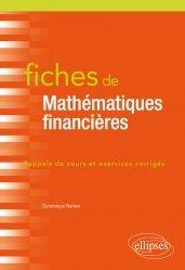 Souvent acheté avec Le guide indispensable de la nutrition, le fiches de mathematiques financieres