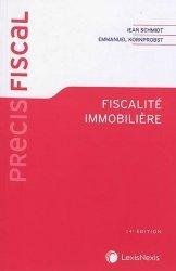 Dernières parutions sur Droit fiscal, Fiscalité immobilière. 4e édition