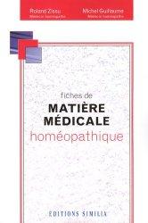 Dernières parutions sur Traités de matière médicale, Fiches de matière médicale homéopathique