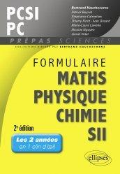 Souvent acheté avec Chimie PCSI, le Formulaire PCSI Maths - Physique - Chimie - SII