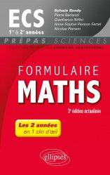 Dernières parutions sur 1ère année, Formulaire maths ECS 1e et 2e années