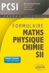 Souvent acheté avec Chimie 1ère année PCSI, le Formulaire PCSI Maths - Physique - Chimie - SII