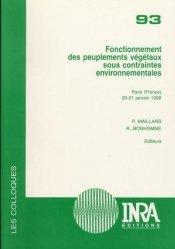 Dernières parutions dans Les colloques, Fonctionnement des peuplements végétaux sous contraintes environnementales