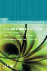 Nouvelle édition Formulation cosmétique