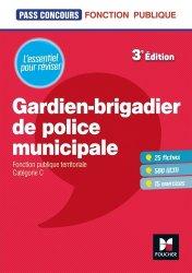 Dernières parutions dans Pass'Concours, Gardien-brigadier de police municipale. 3e édition