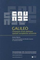 Dernières parutions dans Travaux du CREDIMI, Galileo. Chronique d'une politique spatiale européenne annoncée