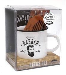 Dernières parutions sur Beauté - Jeunesse, Gentlemen's barber box. Avec 1 paire des ciseaux, 1 peigne, 1 pince à épiler, 1 serviette, 1 mug