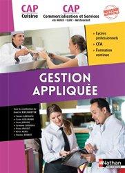 Souvent acheté avec Gestion appliquée Brevets Professionnels Arts de la cuisine / Arts du service et commercialisation en restauration, le Gestion appliquées