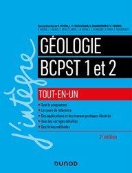 Dernières parutions dans J'intègre, Géologie tout-en-un BCPST 1 et 2