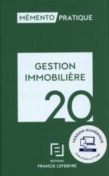 Dernières parutions dans Mémento pratique, Gestion immobilière. Edition 2020