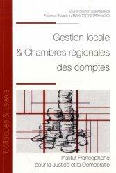 Dernières parutions dans Colloques & Essais, Gestion locale & Chambres régionales des comptes