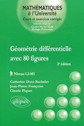 Dernières parutions dans Mathématiques à l'Université, Géométrie différentielle avec 80 figures