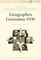 Dernières parutions dans Espaces et territoires, Géographes Génération 1930