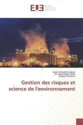 Dernières parutions sur Économie et politiques de l'écologie, Gestion des risques et science de l'environnement