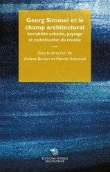 Dernières parutions sur Essais, Georg Simmel et le champ architectural