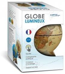 Dernières parutions sur Cartes monde, Globe 14 cm antique lumineux + support en bois