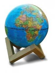 Dernières parutions sur Cartes monde, Globe 14 cm bleu lumineux + support en bois