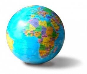 Dernières parutions sur Cartes monde, Globe 14 cm bleu autorotatif lumineux