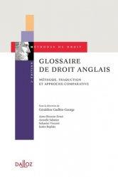 Dernières parutions sur Droit anglais, Glossaire de droit anglais
